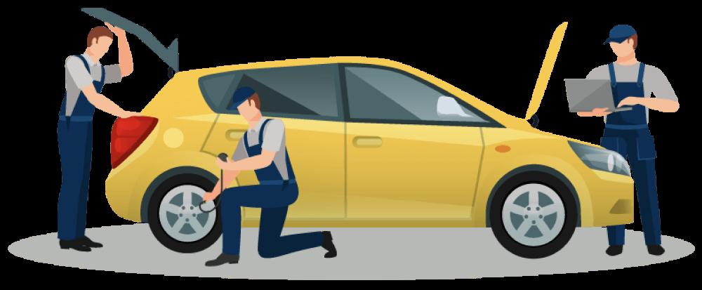 Inspektor profesional carsome melakukan inspeksi mobil
